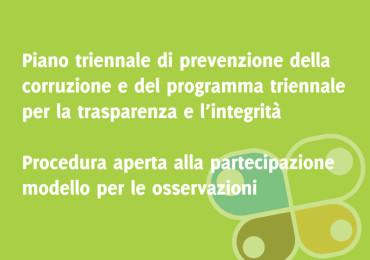 Consultazione aggiornamento piano triennale anticorruzione e trasparenza