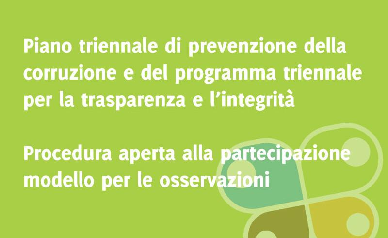 Piano Triennale anticorruzione e trasparenza - Osservazioni al piano