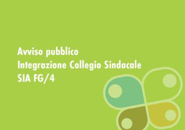AVVISO PUBBLICO – INTEGRAZIONE COLLEGIO SINDACALE SIA FG/4