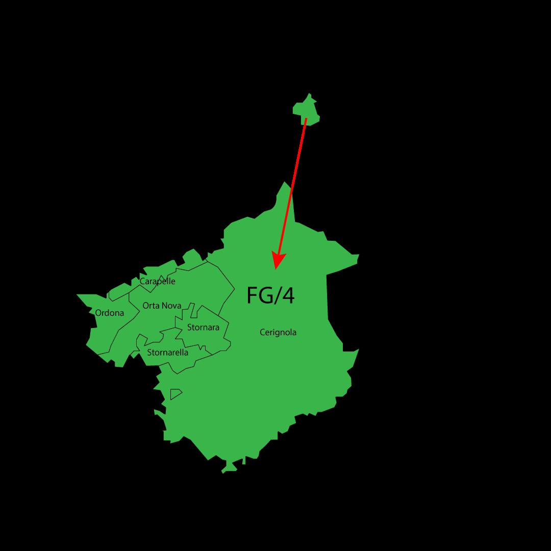Cartina Consorzio Igiene Ambientale FG-1